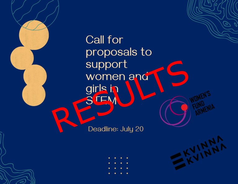 RESULTS of the call for proposals to support women and girls in STEM