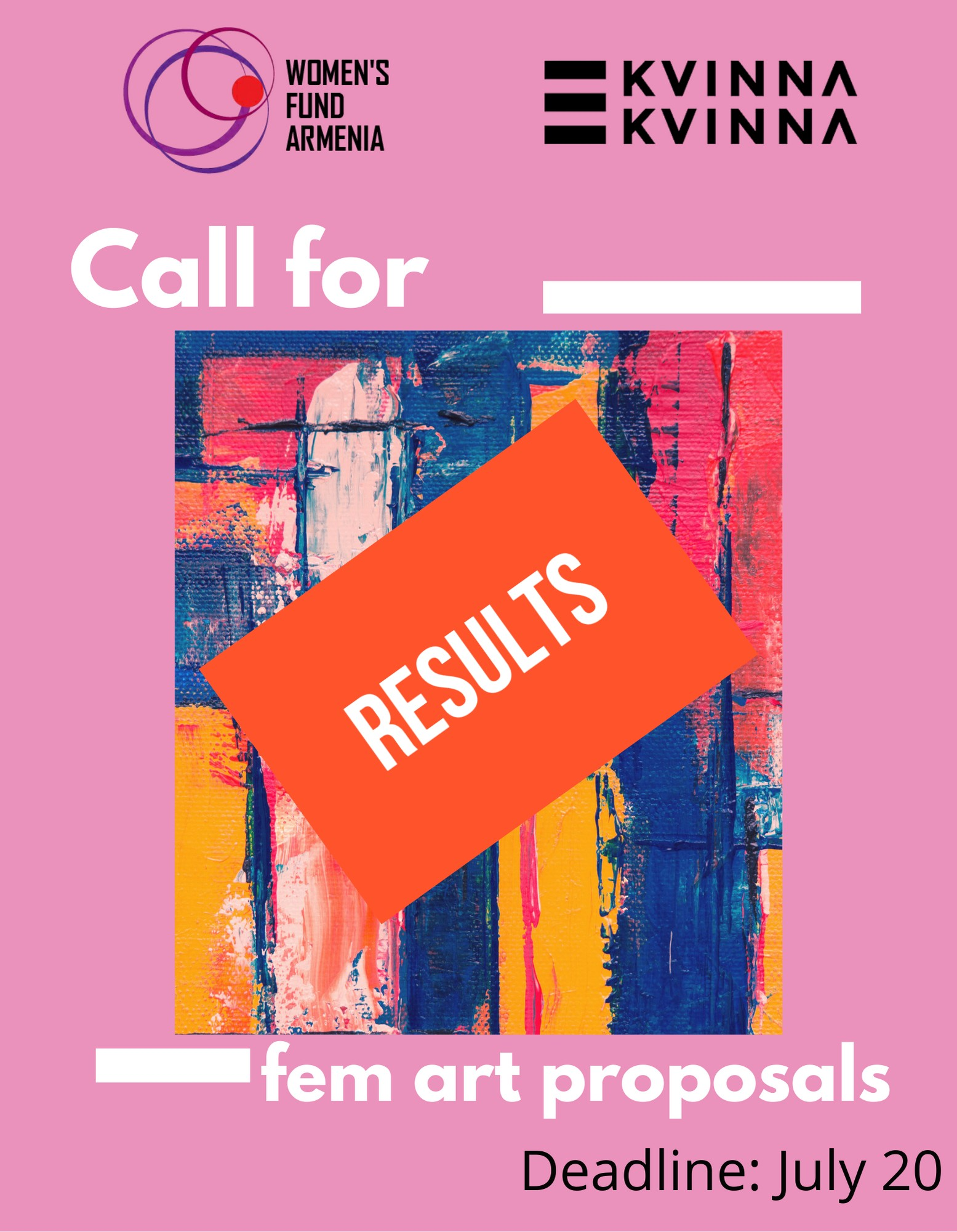 Results of the call for feminist art project proposals