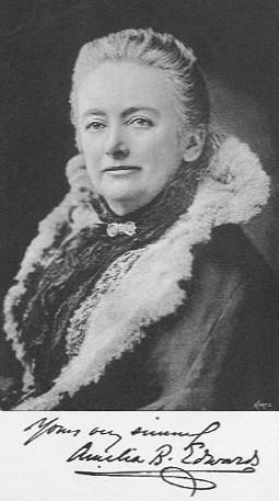 Amelia Edwards in 1890.