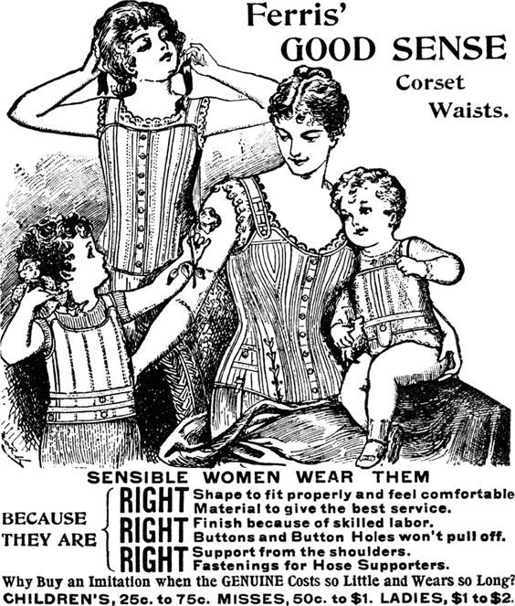Corset magazine advert from the September 1895 Ladies World periodical