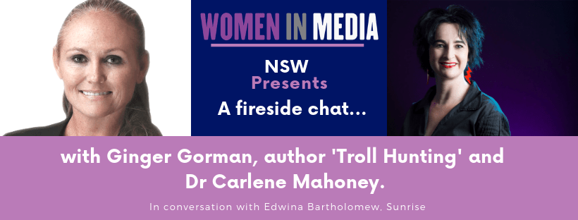Fireside Chat: Ginger Gorman and Dr Carlene Mahoney