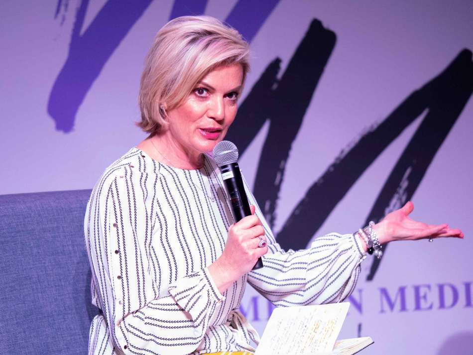Network 10's Sandra Sully leading the discussion on truth and trust. Photo: Monique Grisanti | Uneek Creative
