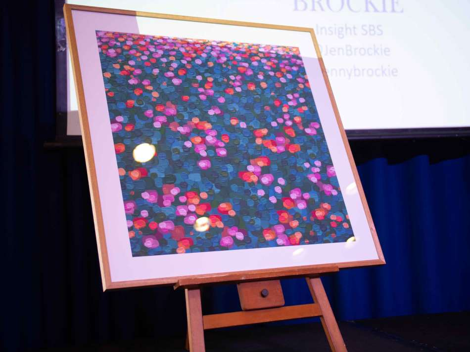 Thank you to Gold Coast artist Tania Blanchard who donated this spectacular raffle prize. Photo: Monique Grisanti | Uneek Creative