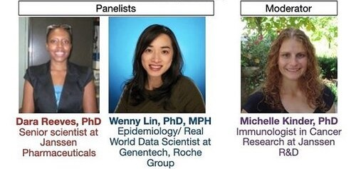 Advertisement of panel webinar on working in the pharmaceutical industry