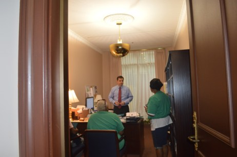 Meeting with Patrick Cawley from Greenleafs office photo by Harmony
