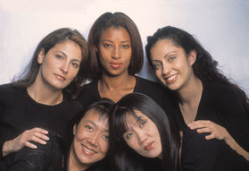 Five beautiful women and four different races