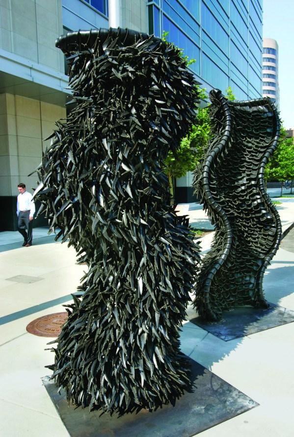 Chakaia Booker Sculpture