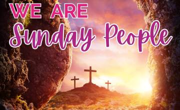We are Sunday People overlayed over an image of