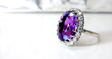 Colored Gems Engagement Ring