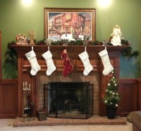 Archivoclinico: Christmas Fireplace With Stockings Images