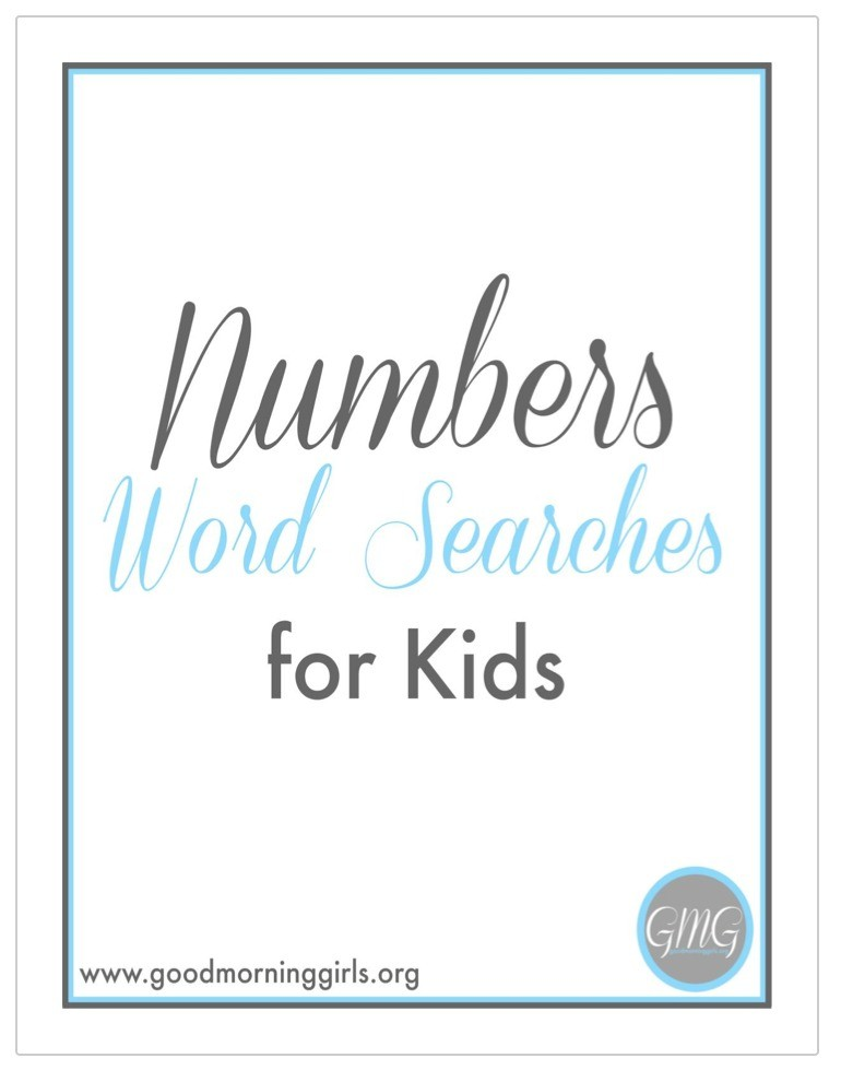 Numbers Word Searches For Kids Cover