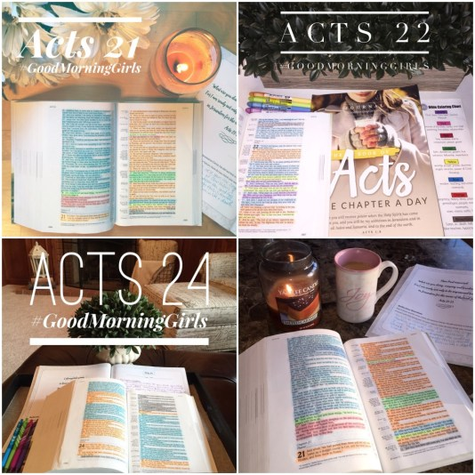 Color Coding Acts 21-25