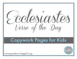 Ecclesiastes VOTD for Kids cover