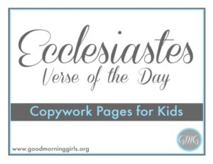 Ecclesiastes VOTD for Kids cover