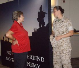 SSgt Mary Ann Miller and Babs Meirs
