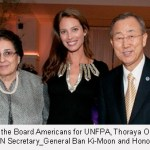 UNFPA awards honorees with UN Secretary General Ban Ki-Moon