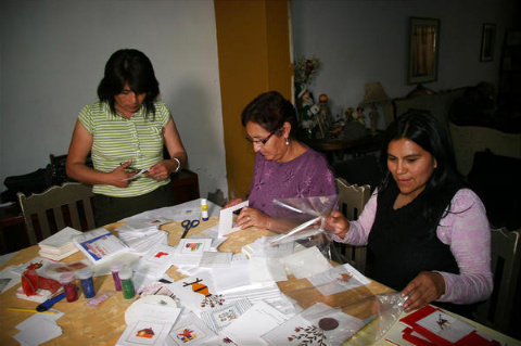 Relief is in the cards: Women raise funds for Peru quake