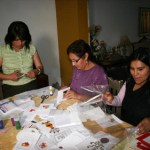Peruvian sisters make cards for earthquake relief funds