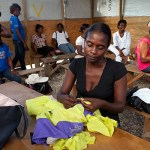 Woman learning sewing skills, Port-au-Prince, Haiti