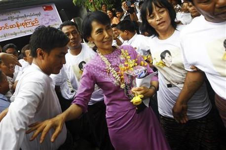 BURMA: Nobel laureate Suu Kyi outlines work ahead for democracy