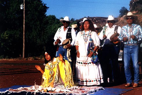 Scene from the Apache ritual seen in the film.