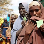 Somali women refugees at Kenya refugee camp