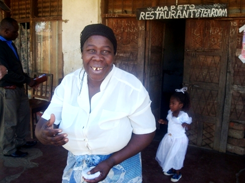 Malawi solar entrepreneur and Salima restaurant owner Veronica