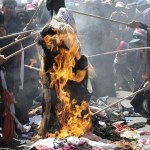 Women burning veils