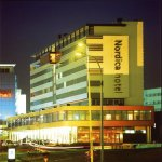 Night image of Nordica Hotel in Iceland