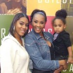 Demetria McKinney and Vivica A. Fox with the 2 year old daughter of a 19 year old mother