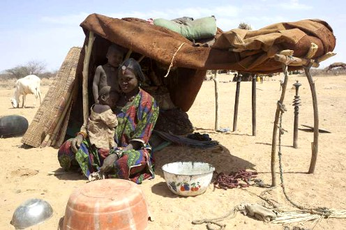 Climate change with chronic food shortage impacts refugees in Niger, Africa