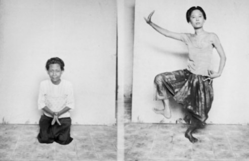 Photo plate from the 1927 Royal Ballet of Cambodia