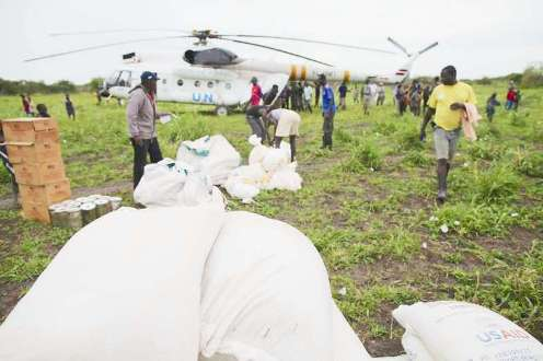 UN Refugee Agency provides protection clusters for airlift aid into South Sudan