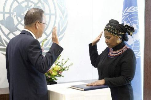 New UN South African Executive Director Pumzile Mlambo-Ngcuka begins term at UN Women