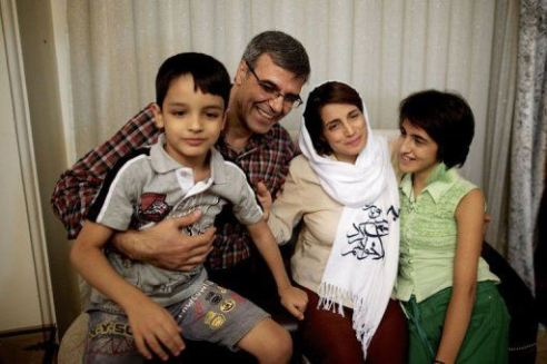 Iran's human rights attorney Ms. Nasrin Sotoudeh celebrates freedom from prison