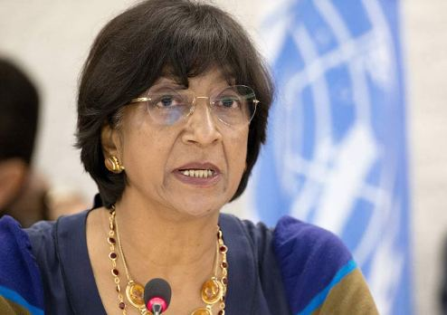 UN High Commissioner Ms Navi Pillay urges protection & rights for all, including Syrians