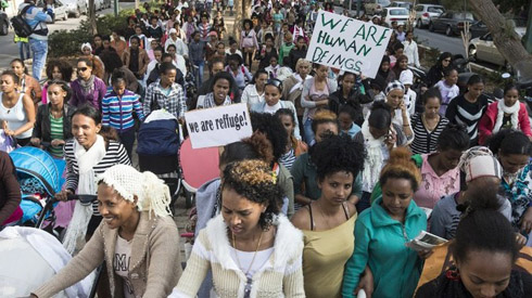 [African] Women asylum seekers protest against Israel