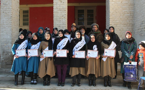 An Afghan town gets its first female high-school graduates