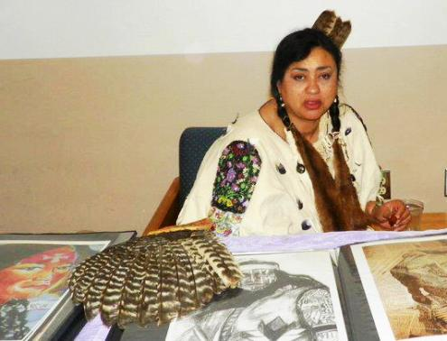 """I'm going to paint my people,"" says Native artist Deborah Spears Moorehead"