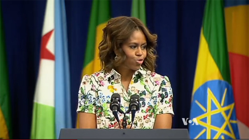 Michelle Obama Urges Young Africans to Embrace Women's Rights