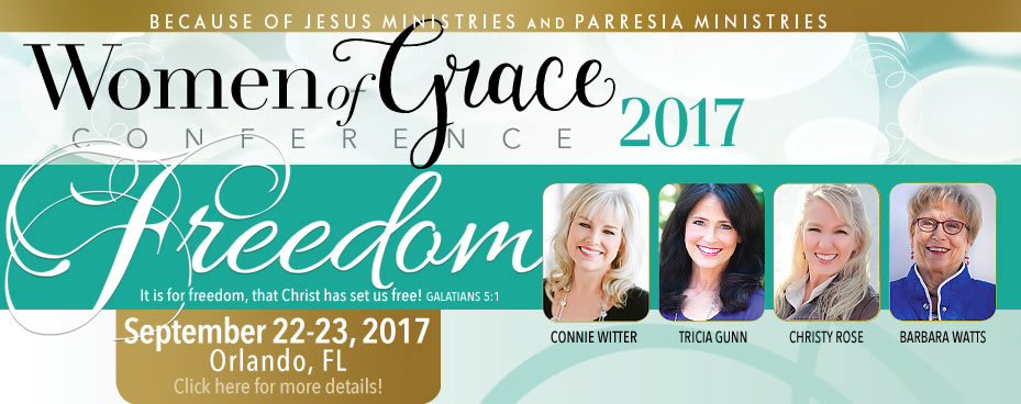 Promotional Banner for Orlando Women of Grace Conference