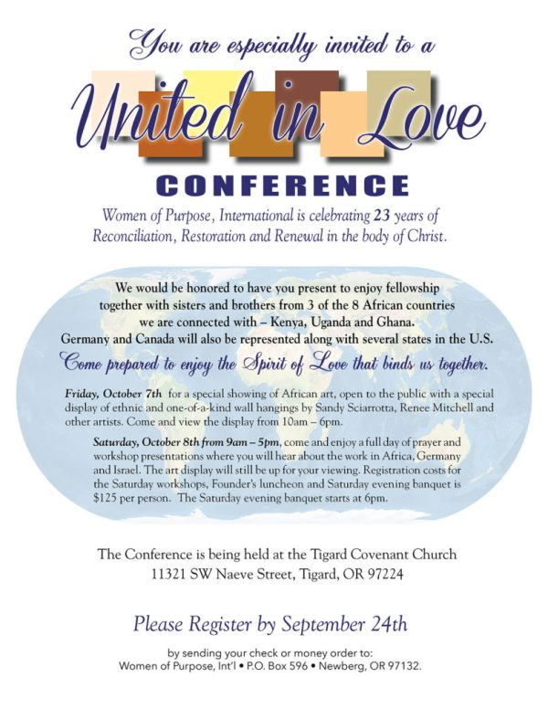 Women of Purpose Int39l 23rd Annual Conference