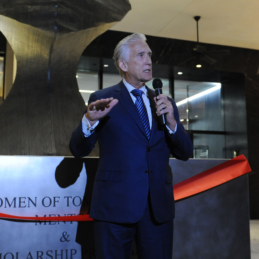 Don Browne speaking at Bal Harbour Shops for Women of Tomorrow