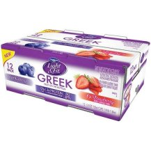 Light and Fit Greek Blueberry and Strawberry Nonfat Yogurt, 5.3 Ounce - 12 per pack -- 1 each