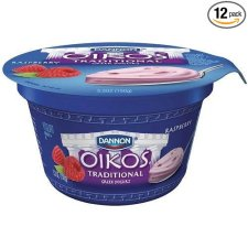 Oikos Organic Triple Zero Mixed Berry Nonfat Greek Yogurt, 5.3 Ounce -- 12 per case.