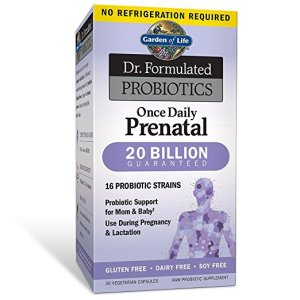 Garden of Life Prenatal Probiotic for Women - Dr. Formulated Once Daily Prenatal for Immune and Digestive Support, Shelf Stable, 30 Capsules.