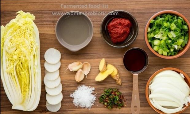 probiotics Fermented Foods list