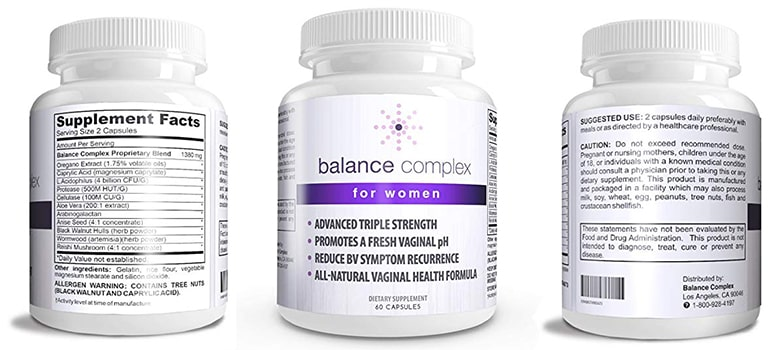 Balance Complex Probiotic - Best For Yeast Infection And Vaginal Health