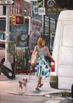 """Bowery Walk,"" Oil on Linen, 20""x30"""