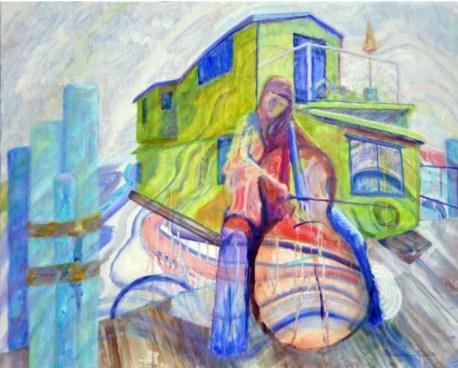 """The Cellist,"" Oil on Linen, 30""x24"""